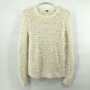 Free People Wool Blend Shaggy Loose Knit Sweater